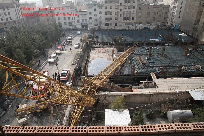 سقوط تاور کرین جنت آباد