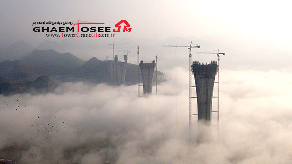 تاور کرین پتن در پل چیشی چین