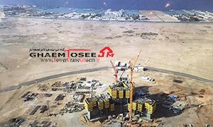 نمای تاور کرین های لیبهر در برج پادشاهی عربستان