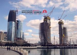 تاور کرین های لیبهر در پروژه Crescent Bay باکو