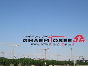 نه تاور کرین پتن MCT 205 برای ساخت یک تفریحگاه لوکس در دبی، امارات متحده عربی استفاده می شود.
