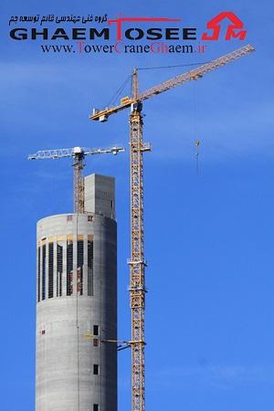 تاور کرین های لیبهر در برج آزمون آسانسور
