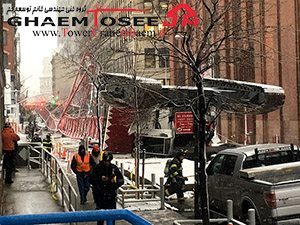 سقوط جرثقیل در نیویورک