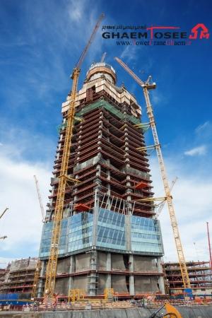 تاور کرین لیبهر در احداث برج lakhta